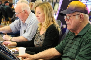Bob, Aunt Linda, & Grandpa at the slots!