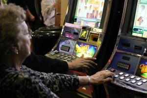 Grandma gambling off in the corner :)