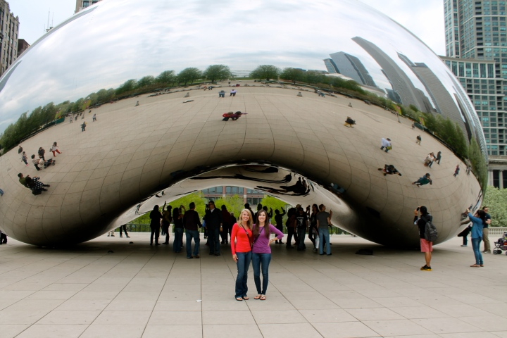 Mom & I at the bean!