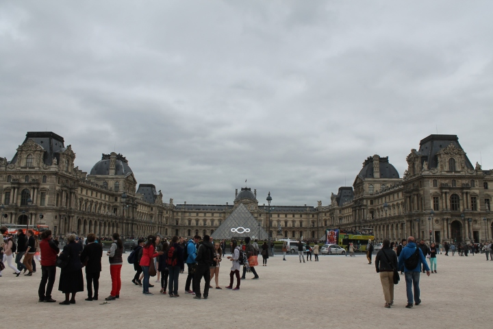 The Louvre Museum extends further still in each direction, but this was the most I could fit in one picture!