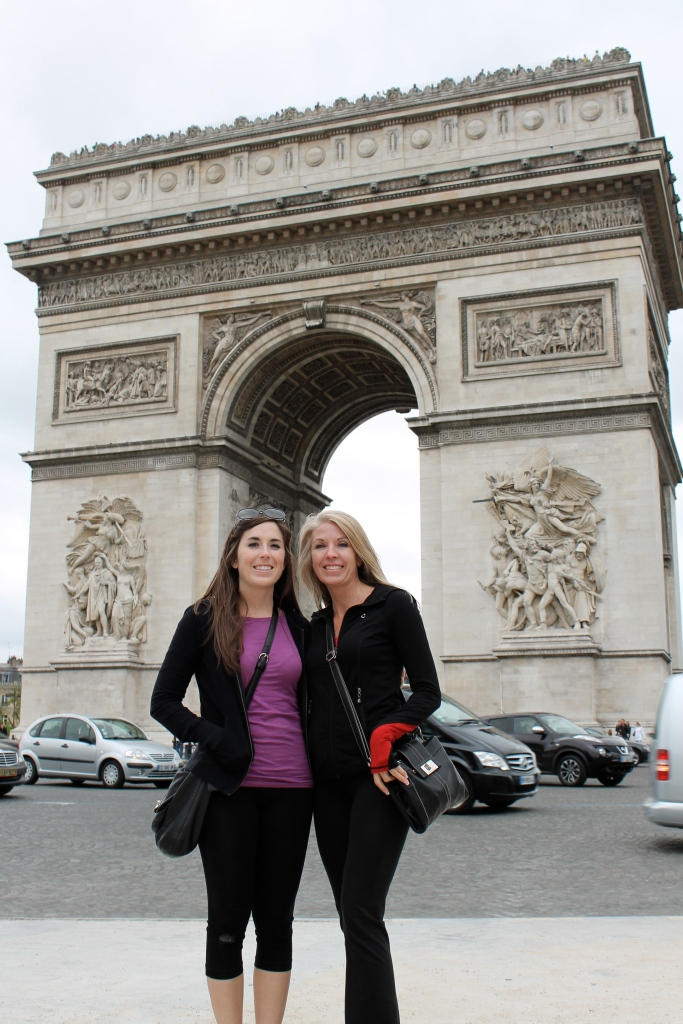 Looking a bit haggard in front of the Arc de Triomphe, one of my favorite buildings in Paris!