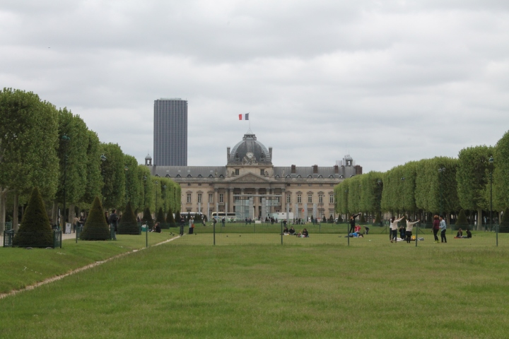 Looking from the Eiffel Tower toward L'Ecole Militaire (the military school)