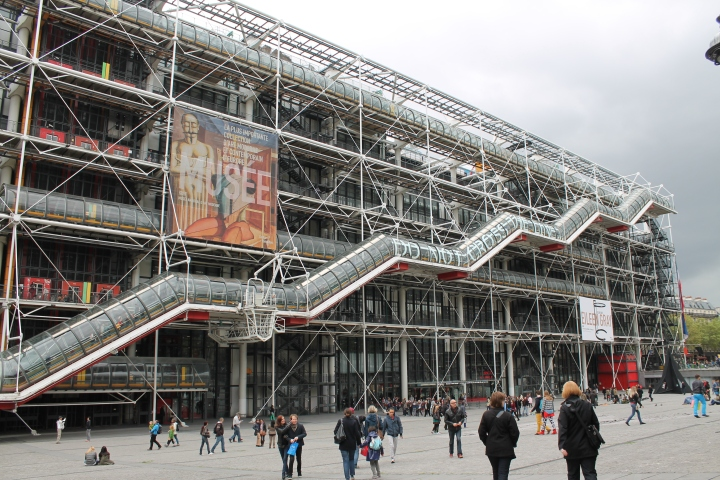 Le Centre Pompidou (a very controversial mixed-use building in Paris.  It's obviously very modern and its setting in the middle of the historic core of the city obviously upset more than a few people.)