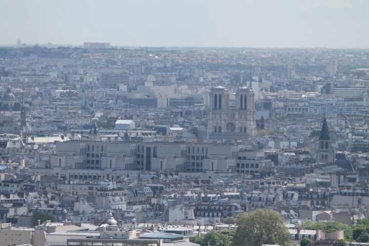 Close up of Notre Dame Cathedral