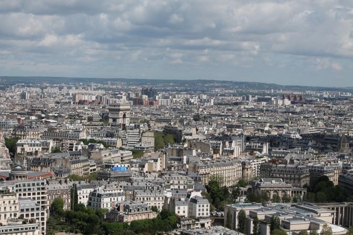 Looking toward Arc de Triomphe