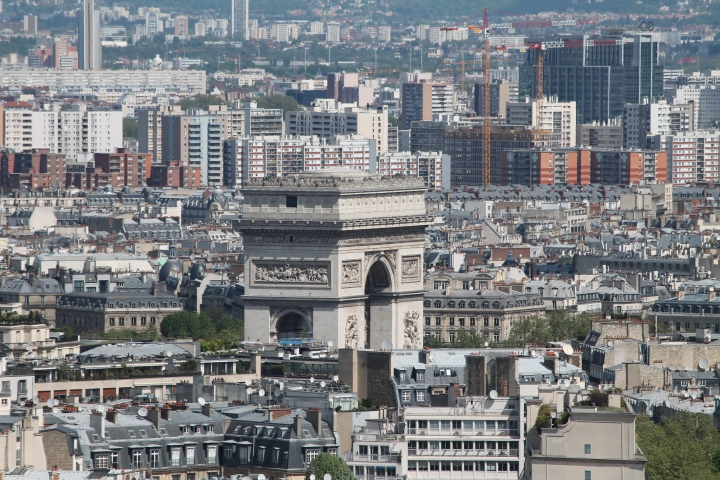 Close up of Arc de Triomphe!  (Look at how little the people are!)