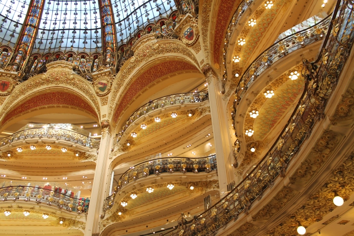 Main atrium of Galleries Lafayette