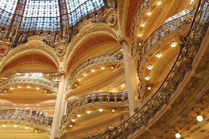 Main atrium of Galleries Lafayette