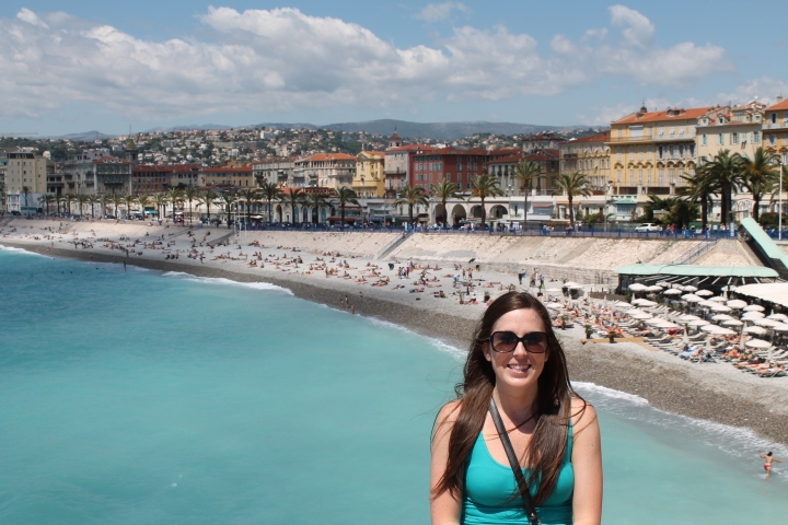 The pictures before this once, I took from right on the beach behind me!  This is part of Nice's boardwalk on the Promenade de Anglais.