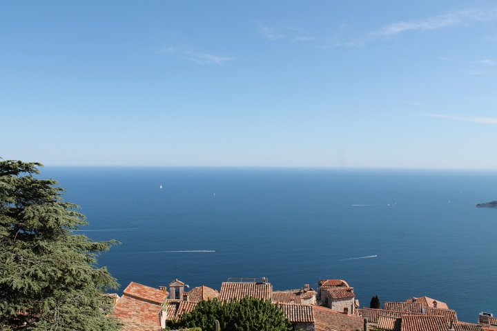 Looking out over Eze