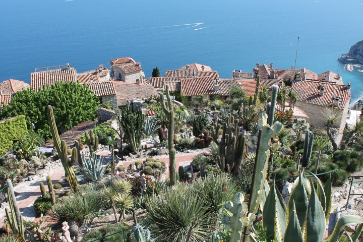 The Jardin Exotique is at the very top of Eze, so this is the main part of the village below.