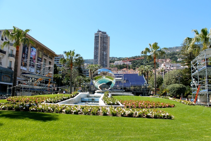 Casino square, directly in front of the Monte Carlo