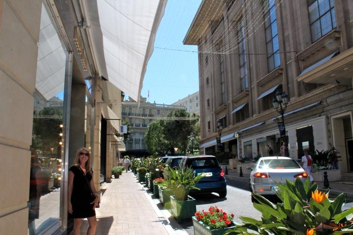 The fancy shopping street