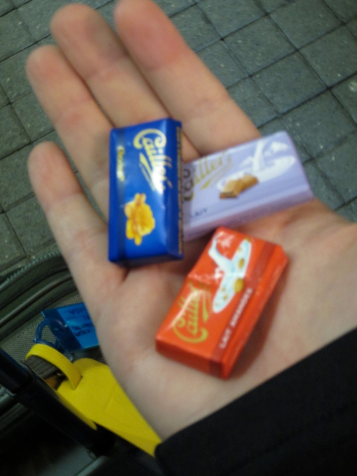 At least I got some free chocolates from the Visitor's Center at the second train station we had a connection at.