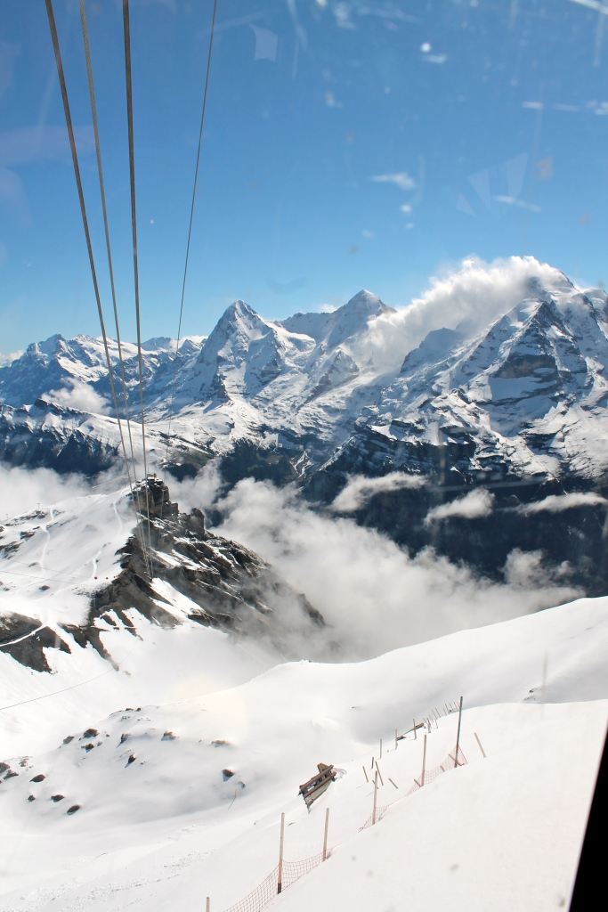 Very last leg, from Birg to Schilthorn.  The peak with the cloud over it is Jungfrau.
