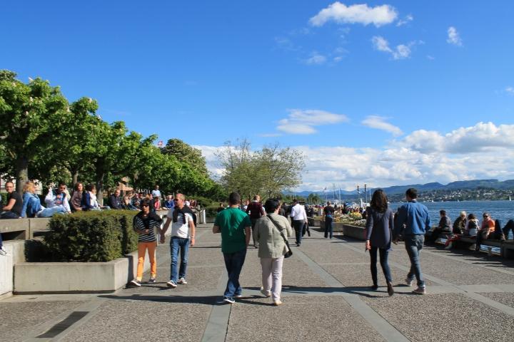 Strolling the promenade!