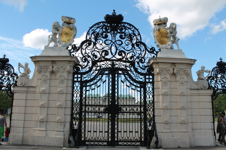 Gates to Belvedere Palace
