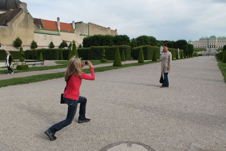 Easily one of my favorite pictures of the trip-- Mom busting out her yoga poses to take a picture!