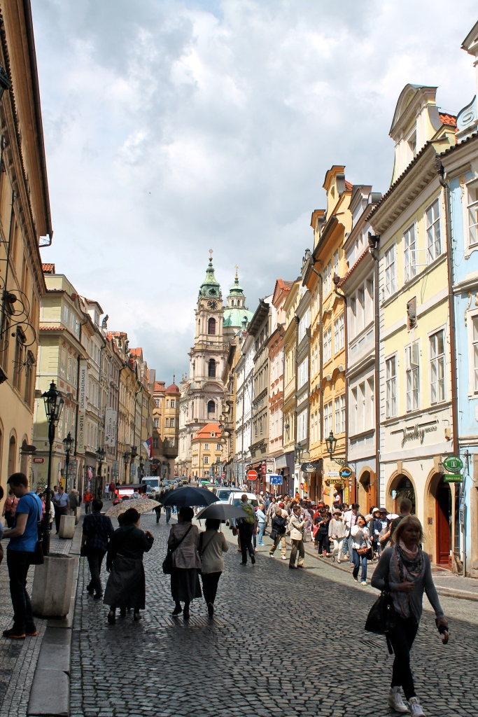 Walking up toward Prague Castle