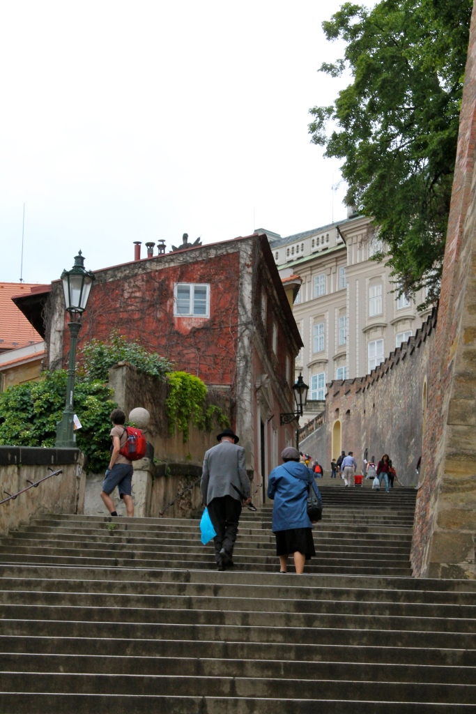 Last bit of stairs to the castle area