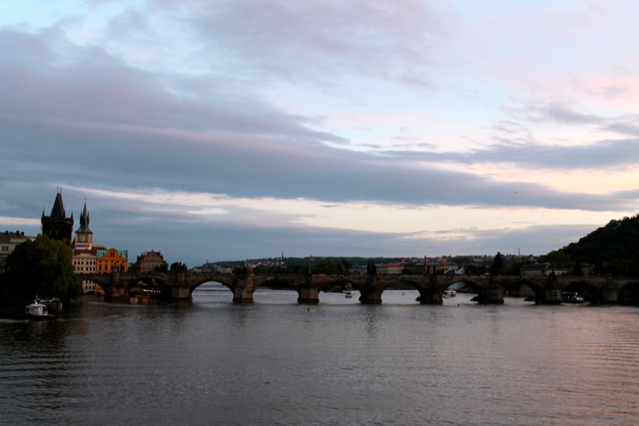 St. Charles Bridge at dusk