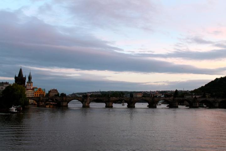St. Charles Bridge at dusk
