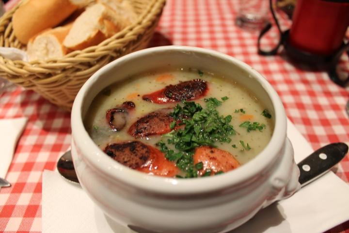 Potato soup for a starter, obviously!