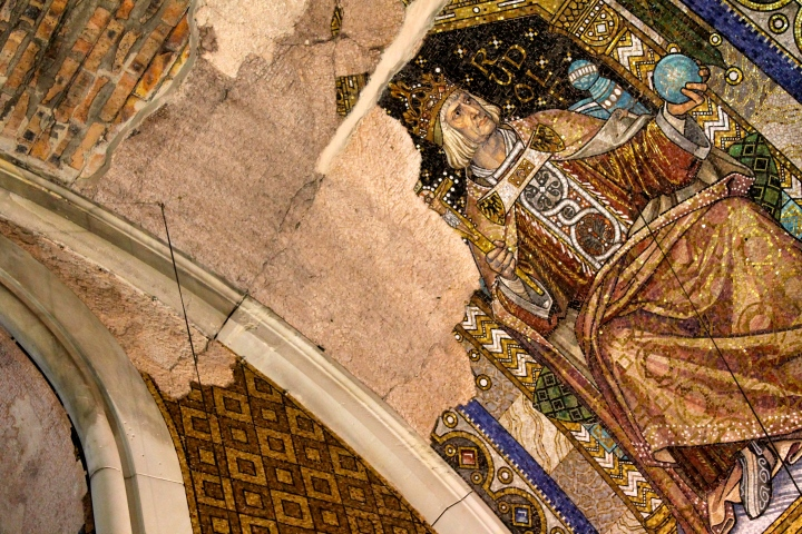 Despite the destruction, the mosaics were still beautiful!